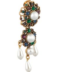 Oscar de la Renta - Metallic Gold-tone Crystal Earrings - Lyst
