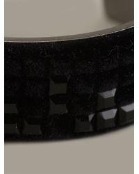 Atelier Swarovski | Black Velvet Rock Cuff | Lyst