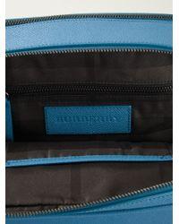 Burberry | Blue London Leather Crossbody Bag for Men | Lyst