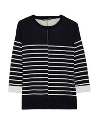 Vince - Blue Striped Stretch-knit Sweater - Lyst