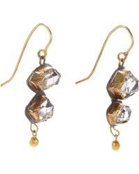 Judy Geib - Metallic Herkimer Diamond, Gold & Sterling Silver Double-Drop Earrings - Lyst