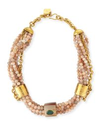 Ashley Pittman - Metallic Mchanga Multi-strand Beaded Necklace - Lyst