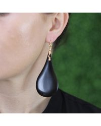 Lucifer Vir Honestus | Black Ebony Wood Earrings | Lyst