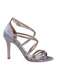 Badgley Mischka | Metallic Meghan Sandal Heels | Lyst