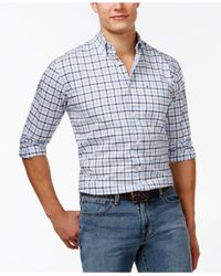Tommy Hilfiger - Blue Baldwin Tattersall Plaid Long-sleeve Shirt for Men - Lyst