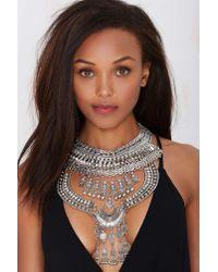 Nasty Gal | Metallic Drama Queen Collar Necklace | Lyst