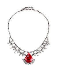 DANNIJO | Red Stevie Crystal Pendant Necklace for Men | Lyst