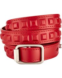 Balenciaga | Red Triple-wrap Bracelet for Men | Lyst
