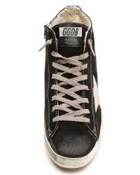 Golden Goose Deluxe Brand - Francy High Tops - Black/Blue - Lyst
