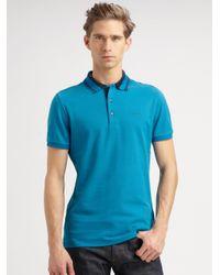 64ce93d6 Burberry Adler Jersey Polo in Blue for Men - Lyst