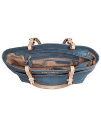 MICHAEL Michael Kors - Blue Bedford Top-zip Pocket Tote - Lyst