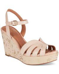 Clarks | Natural Artisan Women's Amelia Page Platform Wedge Sandals | Lyst