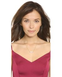 Vita Fede | Metallic Mini Mia Crystal Necklace - Gold/clear | Lyst