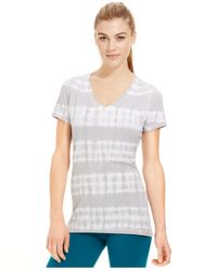 Calvin Klein | Gray Performance Striped Short-sleeve Tee | Lyst