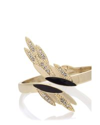 Oasis | Multicolor Pave Feather Cuff | Lyst