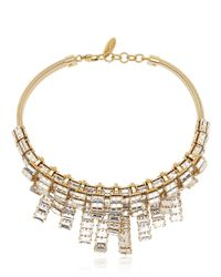 Giuseppe Zanotti | Metallic Crystal Embellished Necklace | Lyst