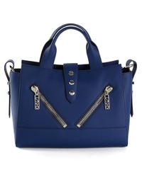 KENZO - Blue Kalifornia Calf-Leather Tote - Lyst