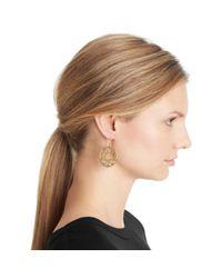 COACH - Metallic Sig C Disc Earrings - Lyst