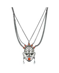 Alexis Bittar | Metallic Cubist Encrusted Mask Necklace You Might Also Like | Lyst