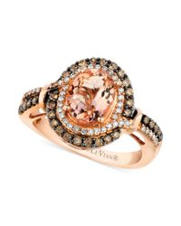 Le Vian - Pink Morganite (1-3/8 Ct. T.w.) And Diamond (1/2 Ct. T.w.) Ring In 14k Rose Gold - Lyst