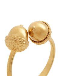 Alexander McQueen - Metallic Double Acorn Brass Bracelet - Lyst