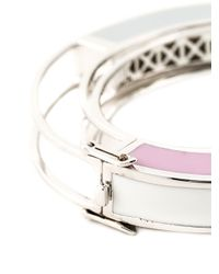 Eddie Borgo | Purple Circle Frame Bangle | Lyst