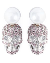 Philipp Plein | Pink 'love Is The Key' Earrings | Lyst
