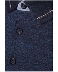 BOSS Orange | Blue Slim-fit Polo Shirt 'patcherman 2' In Cotton for Men | Lyst