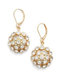 Anne Klein | Metallic Crystal Cluster Drop Earrings | Lyst