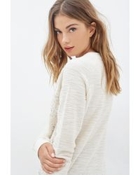Forever 21 - Natural Floral Crochet Sweater - Lyst