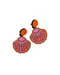 Yazbukey - Pink Seashell Earring - Lyst