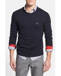Victorinox - Blue Crewneck Sweater for Men - Lyst