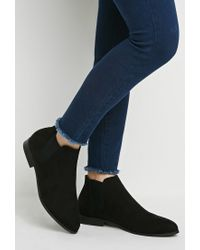 Forever 21 - Black Faux Suede Chelsea Boots - Lyst