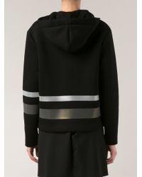 T By Alexander Wang - Black Reflective Stripe Sweatshirt - Lyst