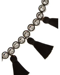 Shourouk - Black Line Pompom Necklace - Lyst