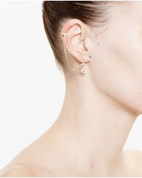 Yvonne Léon | Metallic 18K Gold, Diamonds And Pearl Earring | Lyst