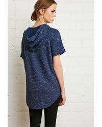 Forever 21 - Blue Slub Knit Pullover - Lyst