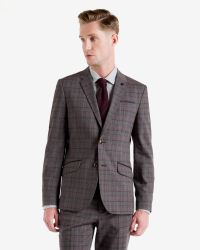 Ted Baker - Gray Checked Jacket for Men - Lyst