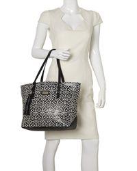 Nine West | Black Zip N Go Tote Handbag | Lyst