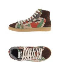 Springa - Brown High-tops & Trainers - Lyst