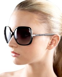 Marc By Marc Jacobs | Black Thin Square Plastic Sunglasses | Lyst