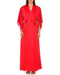 Nk Imode | Red Stardom Silk-satin Dressing Gown | Lyst