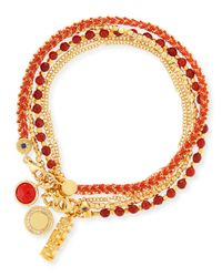 Astley Clarke | Red Double The Luck Charm Bracelets | Lyst