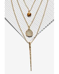 Nasty Gal | Metallic Ojai Layered Necklace | Lyst