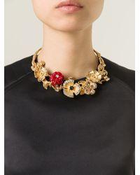 Alexander McQueen | Metallic Cherry Blossom Necklace | Lyst