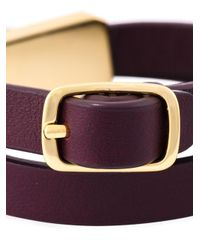 See By Chloé - Metallic Double Wrap Bracelet - Lyst