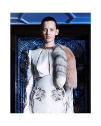 Alexander McQueen - Pink Chained Fox Fur - Lyst