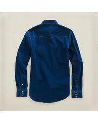 RRL | Blue Buffalo Western Shirt for Men | Lyst