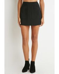 Forever 21 | Black Pocket Mini Skirt | Lyst