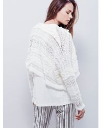 Free People - White Womens Stormy Night Shrug - Lyst